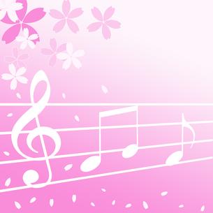 桜と音楽の写真素材 [FYI00274564]