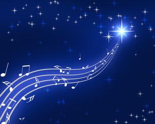 夜空の音楽の写真素材 [FYI00274607]