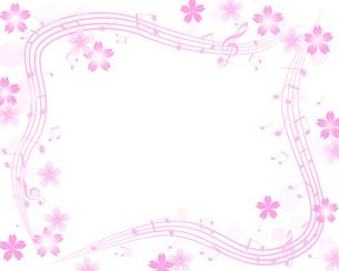 サクラと音楽の写真素材 [FYI00274696]