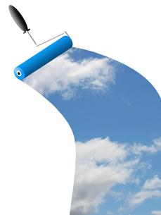 青空を描くの写真素材 [FYI00274722]