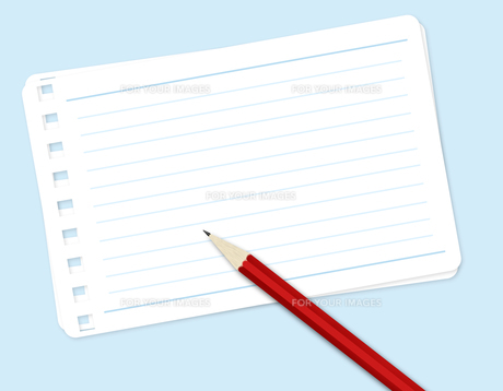 メモ用紙と鉛筆の素材 [FYI00274726]