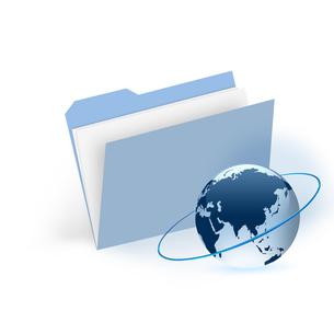 ファイルと地球の写真素材 [FYI00274752]