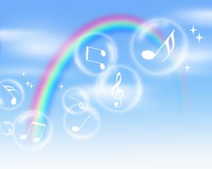 シャボン玉と音楽の写真素材 [FYI00274779]