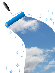 青空を描くの写真素材 [FYI00274784]