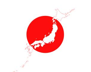 日の丸と日本地図の写真素材 [FYI00274873]