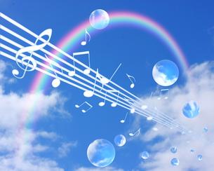 青空と音楽の写真素材 [FYI00274881]
