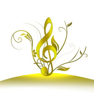 音楽とフラワーアレンジの写真素材 [FYI00274908]