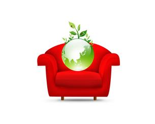 ソファーとエコロジーの写真素材 [FYI00274944]