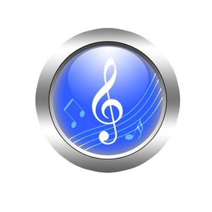 音楽ボタンの写真素材 [FYI00274971]