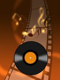 ネガフィルムとレコード盤の写真素材 [FYI00274972]