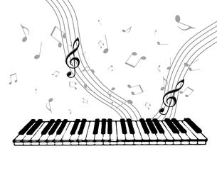 ピアノを弾くの写真素材 [FYI00274976]