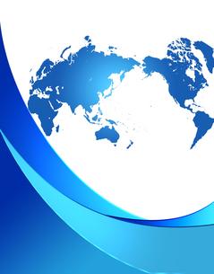 フレームの中の世界地図の写真素材 [FYI00274990]