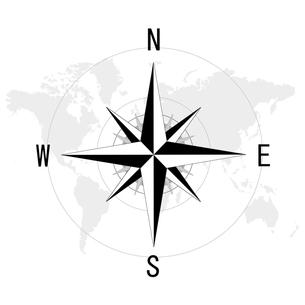 コンパスと世界地図の写真素材 [FYI00274999]