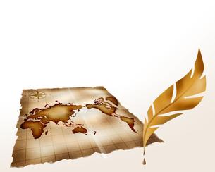 世界地図とペンの写真素材 [FYI00275031]
