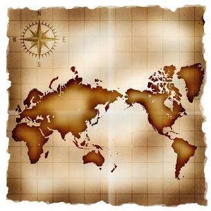 古い世界地図の写真素材 [FYI00275047]