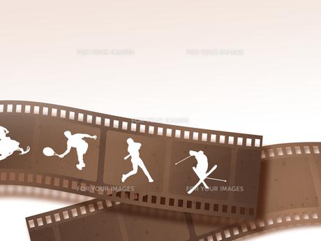 ネガフィルムとスポーツの写真素材 [FYI00275061]