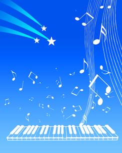 星空と音楽の写真素材 [FYI00275082]