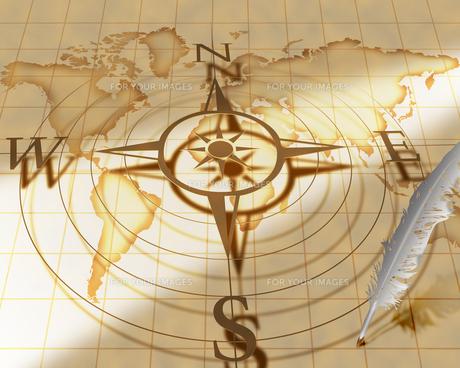 古い世界地図の写真素材 [FYI00275158]