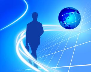 世界を駆けるビジネスマンの写真素材 [FYI00275162]