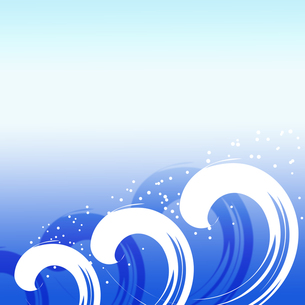 波のイメージの写真素材 [FYI00275174]