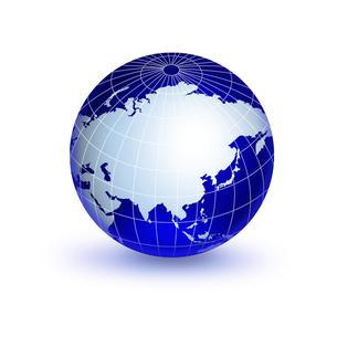 青い地球儀の写真素材 [FYI00275175]