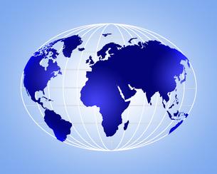 球面な世界地図の写真素材 [FYI00275181]