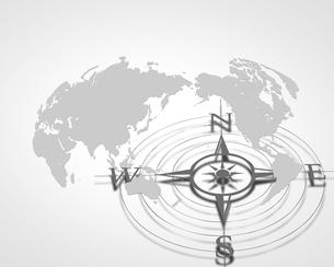 世界地図とコンパスの写真素材 [FYI00275194]