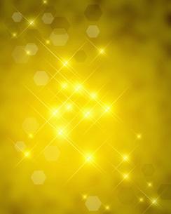 ゴールドなイルミネーションの写真素材 [FYI00275218]