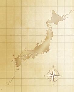 レトロな日本地図の写真素材 [FYI00275241]