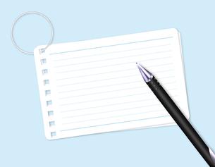 メモ用紙とボールペンの写真素材 [FYI00275276]