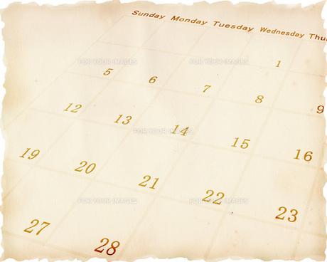 古いカレンダーの素材 [FYI00275289]