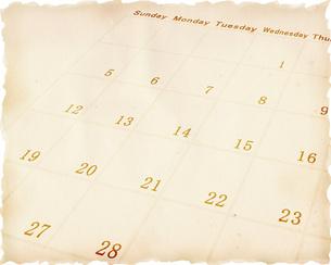 古いカレンダーの写真素材 [FYI00275289]