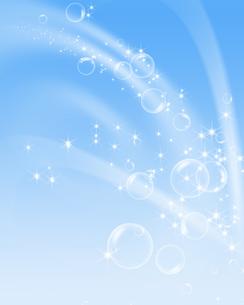 青空とシャボン玉の写真素材 [FYI00275299]