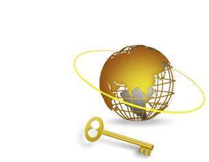 地球儀と鍵の写真素材 [FYI00275339]
