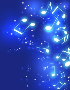 夜空と音楽の写真素材 [FYI00275377]
