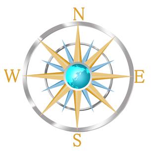 コンパスと地球儀の写真素材 [FYI00275440]