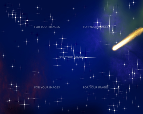 星空と流星の写真素材 [FYI00275442]