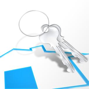 家の鍵の写真素材 [FYI00275457]