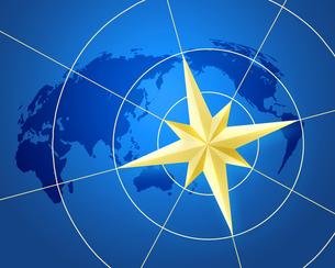 コンパスと世界地図の写真素材 [FYI00275514]