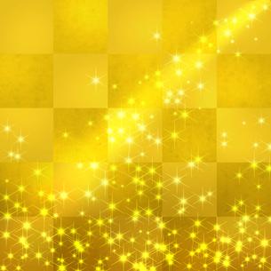 金色のイルミネーションの写真素材 [FYI00275602]