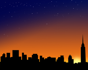 都市の夕景の写真素材 [FYI00275617]
