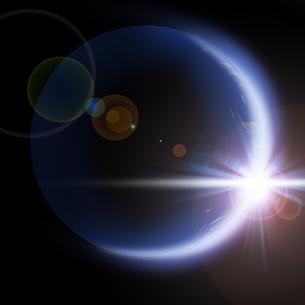 地球の夜明けの写真素材 [FYI00275662]