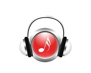 音楽を聴くの写真素材 [FYI00275665]