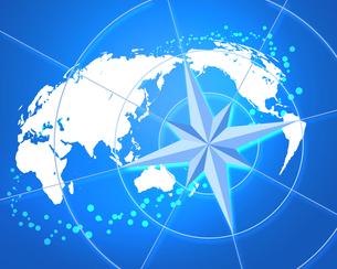 世界地図とコンパスの写真素材 [FYI00275670]