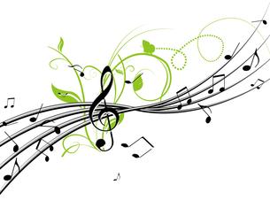音楽と植物の写真素材 [FYI00275902]