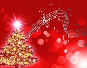 クリスマスと音楽の写真素材 [FYI00275913]