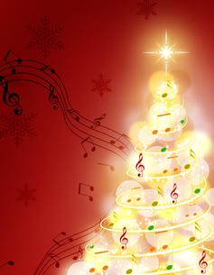 音楽のクリスマスツリーの写真素材 [FYI00275985]