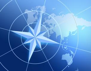 世界地図とコンパスの写真素材 [FYI00275989]