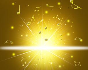 音楽と光の写真素材 [FYI00276025]
