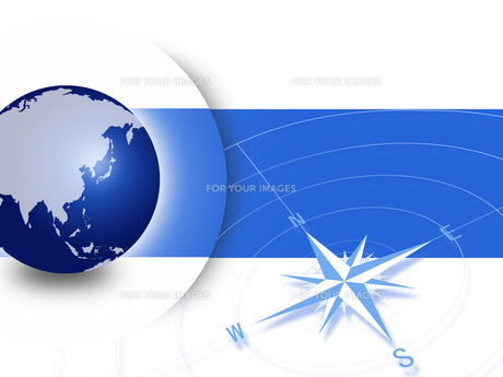 地球とコンパスの写真素材 [FYI00276087]